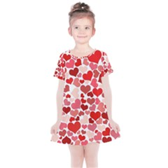 Abstract Background Decoration Hearts Love Kids  Simple Cotton Dress