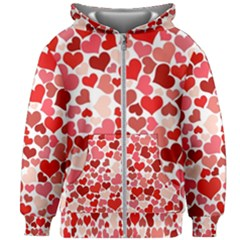 Abstract Background Decoration Hearts Love Kids Zipper Hoodie Without Drawstring