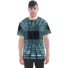 Abstract Perspective Background Men s Sports Mesh Tee