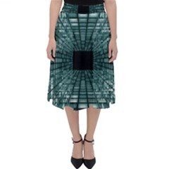 Abstract Perspective Background Folding Skater Skirt