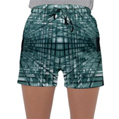 Abstract Perspective Background Sleepwear Shorts