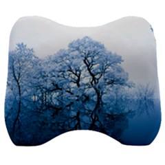 Nature Inspiration Trees Blue Velour Head Support Cushion