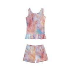 Wallpaper Design Abstract Kid s Boyleg Swimsuit