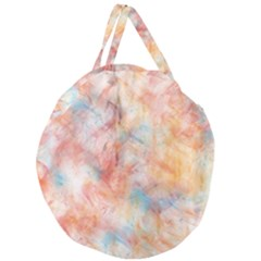 Wallpaper Design Abstract Giant Round Zipper Tote
