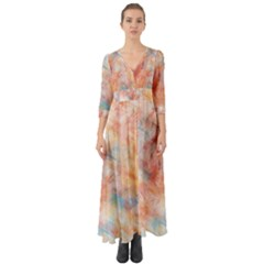 Wallpaper Design Abstract Button Up Boho Maxi Dress by Nexatart