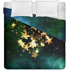 Heart Love Universe Space All Sky Duvet Cover Double Side (king Size) by Nexatart
