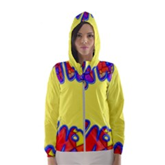 Embroidery Dab Color Spray Hooded Windbreaker (women)