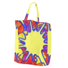 Embroidery Dab Color Spray Giant Grocery Tote