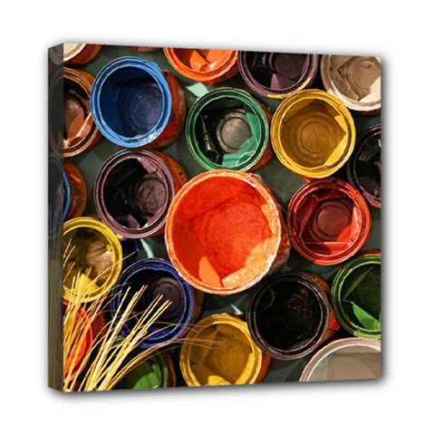 Color Box Colorful Art Artwork Mini Canvas 8  X 8