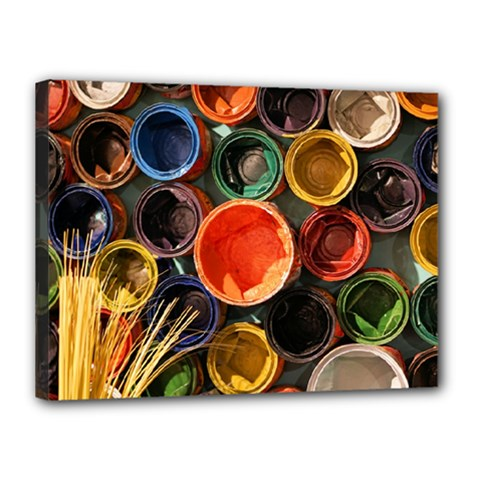 Color Box Colorful Art Artwork Canvas 16  X 12  by Nexatart