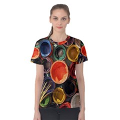 Color Box Colorful Art Artwork Women s Cotton Tee