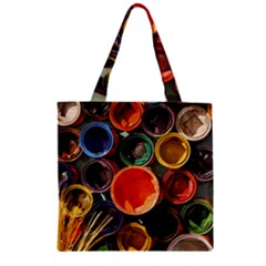 Color Box Colorful Art Artwork Zipper Grocery Tote Bag