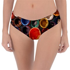 Color Box Colorful Art Artwork Reversible Classic Bikini Bottoms