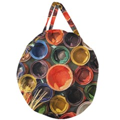Color Box Colorful Art Artwork Giant Round Zipper Tote