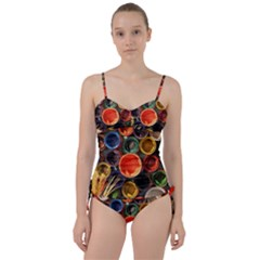 Color Box Colorful Art Artwork Sweetheart Tankini Set by Nexatart