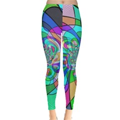 Retro Wave Background Pattern Leggings