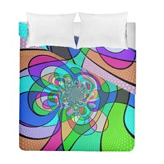 Retro Wave Background Pattern Duvet Cover Double Side (full/ Double Size)