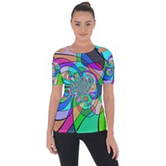 Retro Wave Background Pattern Short Sleeve Top