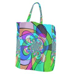 Retro Wave Background Pattern Giant Grocery Tote