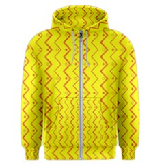 Yellow Background Abstract Men s Zipper Hoodie
