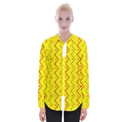 Yellow Background Abstract Womens Long Sleeve Shirt