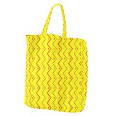 Yellow Background Abstract Giant Grocery Tote