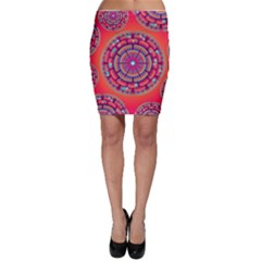 Floral Background Texture Pink Bodycon Skirt by Nexatart