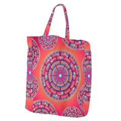 Floral Background Texture Pink Giant Grocery Tote