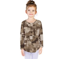Color Abstract Background Textures Kids  Long Sleeve Tee