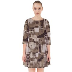 Color Abstract Background Textures Smock Dress