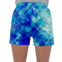 Abstract Squares Arrangement Sleepwear Shorts