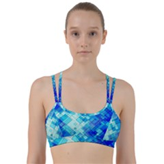 Abstract Squares Arrangement Line Them Up Sports Bra