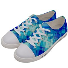 Abstract Squares Arrangement Women s Low Top Canvas Sneakers by Nexatart
