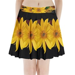 Sun Flower Blossom Bloom Particles Pleated Mini Skirt by Nexatart