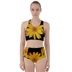 Sun Flower Blossom Bloom Particles Racer Back Bikini Set
