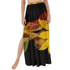 Sun Flower Blossom Bloom Particles Maxi Chiffon Tie Up Sarong by Nexatart
