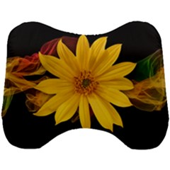 Sun Flower Blossom Bloom Particles Head Support Cushion