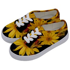 Sun Flower Blossom Bloom Particles Kids  Classic Low Top Sneakers by Nexatart