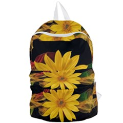 Sun Flower Blossom Bloom Particles Foldable Lightweight Backpack by Nexatart