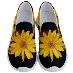 Sun Flower Blossom Bloom Particles Men s Lightweight Slip Ons by Nexatart