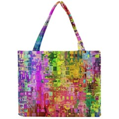 Color Abstract Artifact Pixel Mini Tote Bag by Nexatart