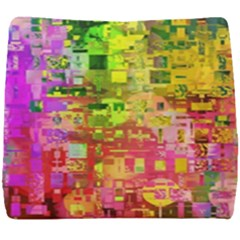Color Abstract Artifact Pixel Seat Cushion