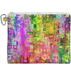 Color Abstract Artifact Pixel Canvas Cosmetic Bag (xxxl) by Nexatart
