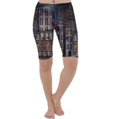 Architecture City Home Window Cropped Leggings  by Nexatart