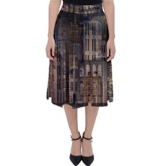 Architecture City Home Window Folding Skater Skirt