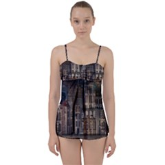 Architecture City Home Window Babydoll Tankini Set