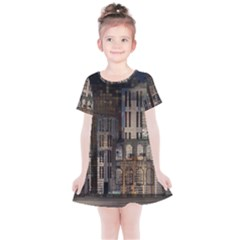 Architecture City Home Window Kids  Simple Cotton Dress by Nexatart