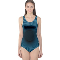 Background Spiral Abstract Pattern One Piece Swimsuit