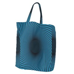 Background Spiral Abstract Pattern Giant Grocery Tote
