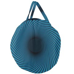 Background Spiral Abstract Pattern Giant Round Zipper Tote